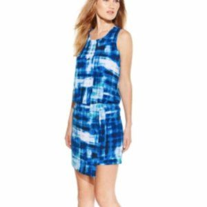 Calvin Klein 14 Blue Regatta Blouson Tank Dress